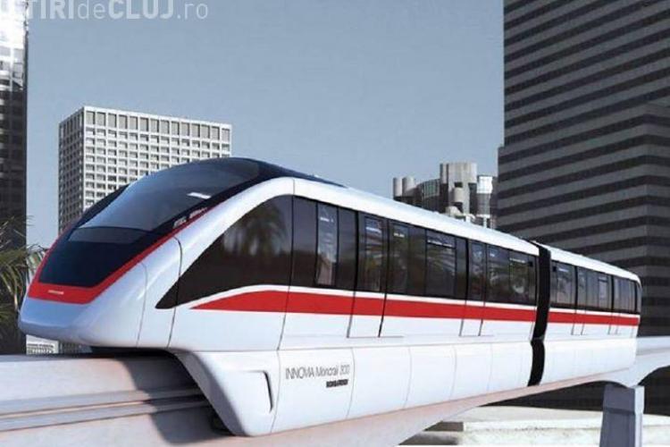 Clujul alocă un milion de lei pentru un tren suspendat de mare viteză