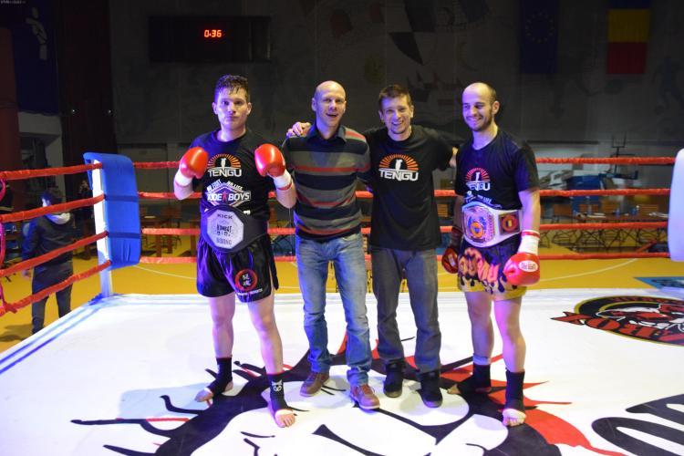 Doi kickboxeri clujeni au cucerit centurile naționale la Kombat Liga FOTO
