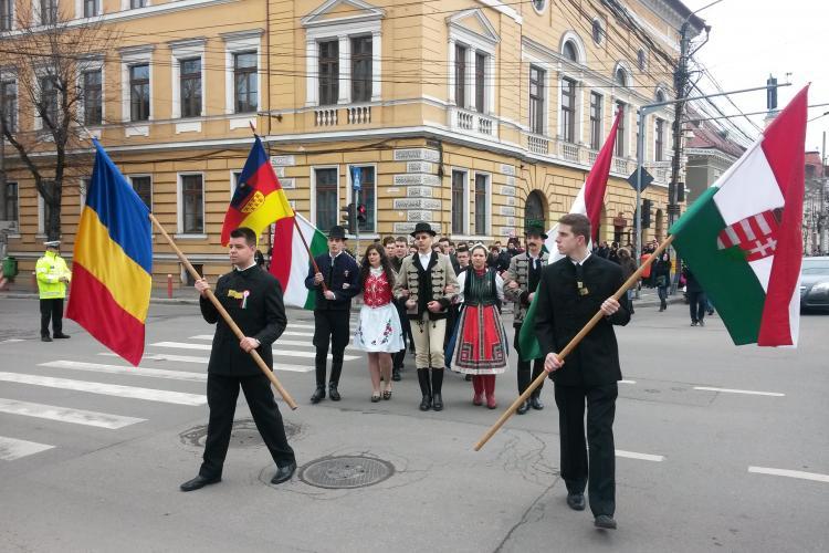 Maghiarii au invadat centrul Clujului, de Ziua Maghiarilor de Pretutindeni. Ce incidente au fost - VIDEO