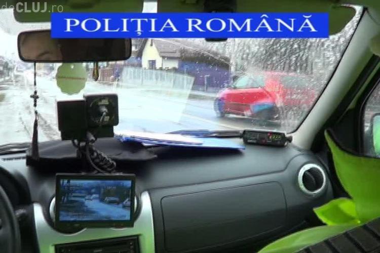 Acțiune de amploare a polițiștilor clujeni. Au verificat sute de persoane și autoturisme în câteva ore VIDEO