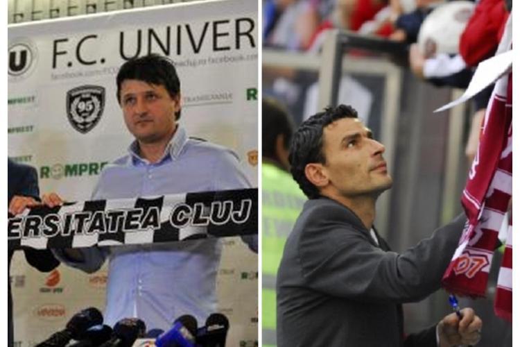 """""""U"""" Cluj-CFR: Ce spun cei doi antrenori înaintea duelului Clujului"""
