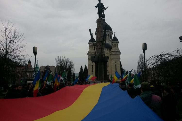 Noua Dreaptă în marș prin Cluj-Napoca: Acțiunile maghiarilor sunt separatiste - VIDEO