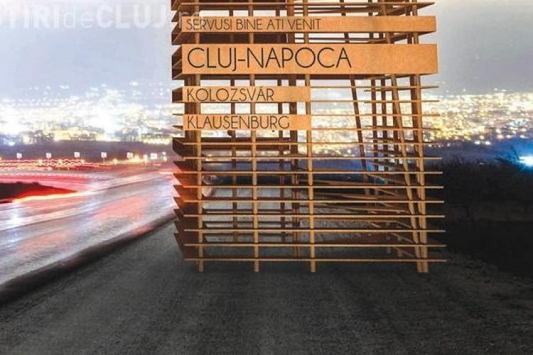 Cum vor arăta intrările în oraș, pe care va scrie Cluj-Napoca, Kolozsvar şi Klausenburg. Vă plac? - FOTO