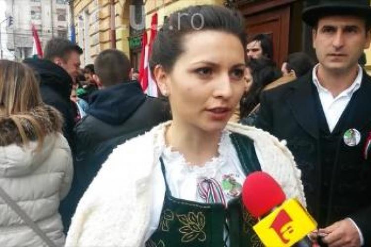 O frumoasă unguroaică din Cluj a explicat ce înseamnă ziua de 15 martie: Mândrie că mai suntem în Ardeal - VIDEO
