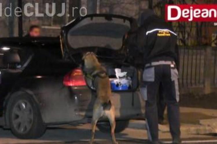 Traficanți de droguri arestați în plină stradă la Dej VIDEO