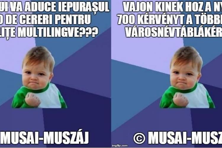 Maghiarii depun cereri în masă la Primăria Cluj-Napoca pentru amplasarea plăcuțelor trilingve