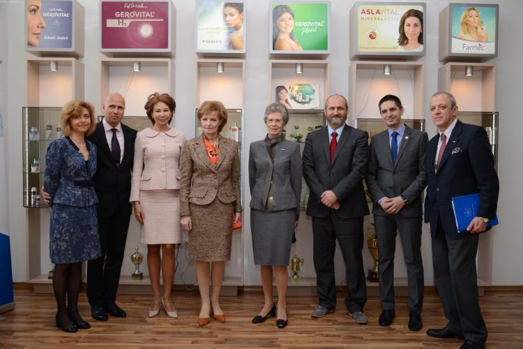 Principesa Margareta a României a venit în vizită la Farmec