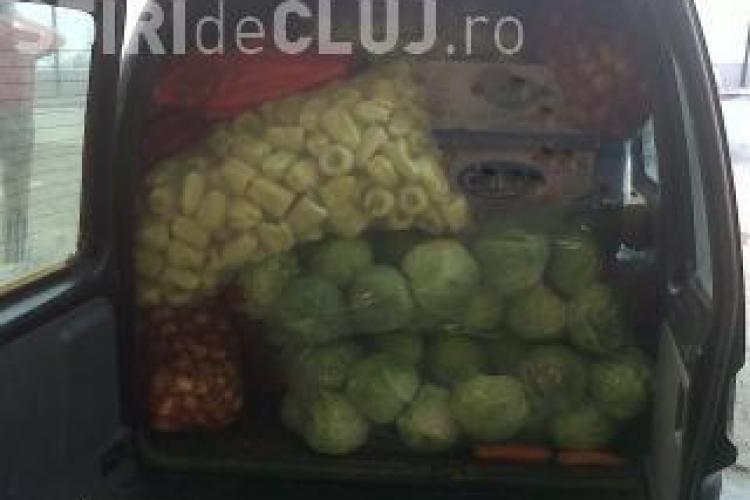 Peste o jumătate de tonă de legume confiscate la Cluj în urma unui control în trafic