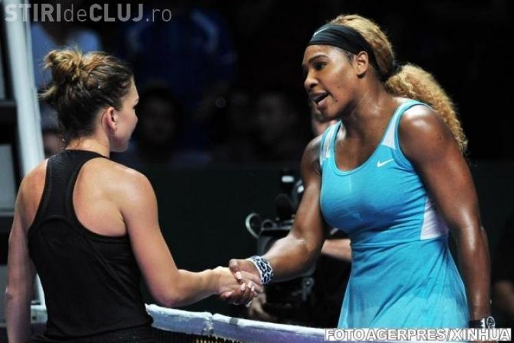 Simona Halep va juca iarăși cu Serena Williams. Ce reacție a avut americanca