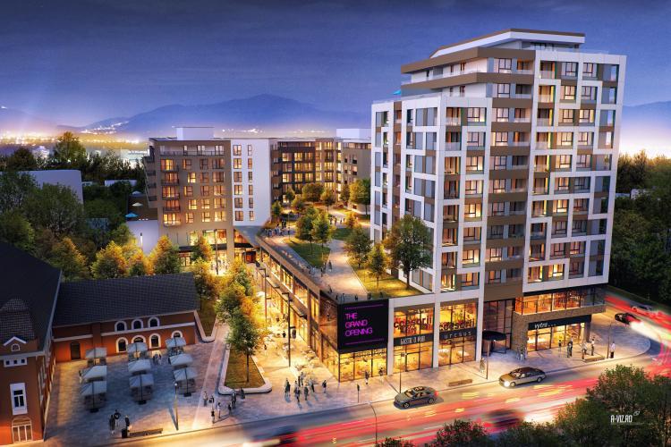Platinia ridică un ansamblu rezidențial, cu shopping mall la parter, în centrul Clujului (P)