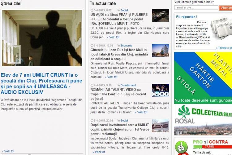 Știri de Cluj este cel mai CITIT și INFLUENT ziar din Cluj - Cifre si MULȚUMIRI cititorilor