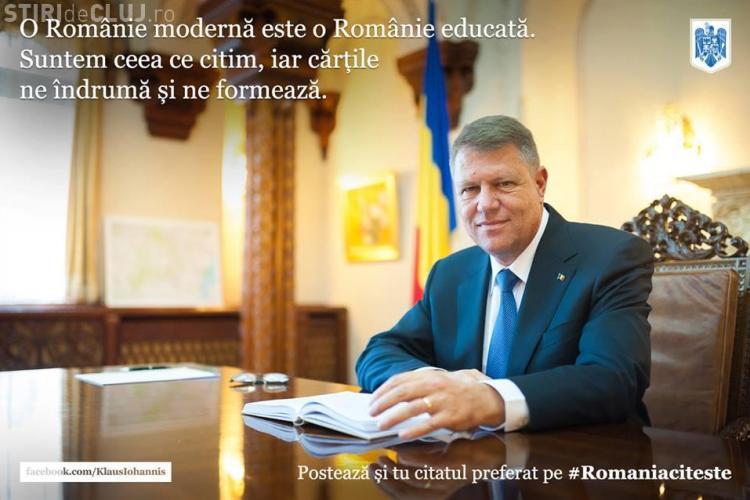 Klaus Iohannis a scris pe Facebook care este citatul său preferat