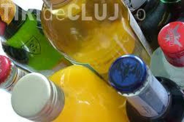 Șofer ghinionist la Cluj. Polițiștii i-au confiscat aproape 600 de sticle de băutură