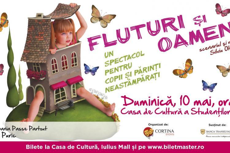 """Piesa de teatru """"Fluturi și oameni"""", câștigătoare a unui premiu prestigios, pusă în scenă la Cluj. UPDATE Piesa s-a anulat"""