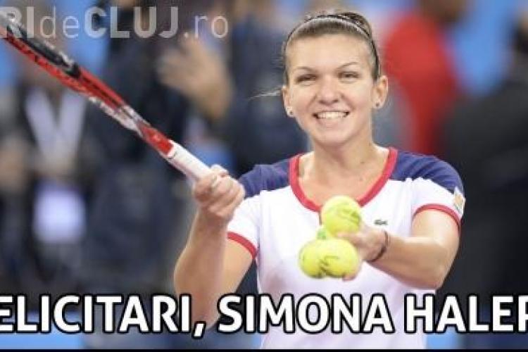 Simona Halep a câștigat meciul cu Sara Errani, scor 6-4, 6-4