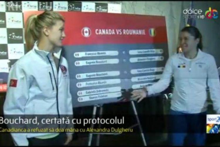 Moment stânjenitor înainte de Fed Cup. Eugenie Bouchard a avut un comportament nesportiv la adresa Alexandrei Dulgheru