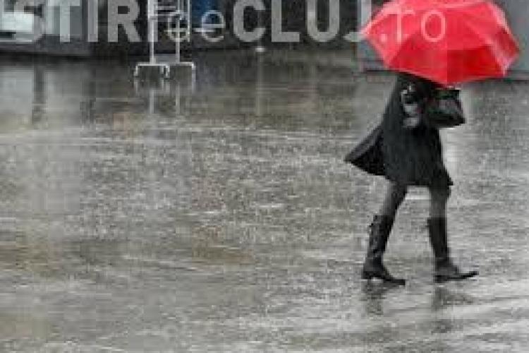 Avertisment de ploi și vreme rea în toată țara. Cum va fi mâine la Cluj