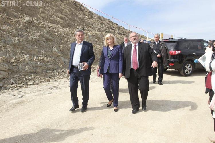 Ioan Rus și Corina Crețu în vizită pe șantierul autostrăzii Turda-Sebeș FOTO