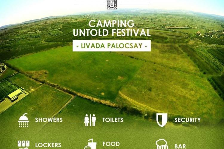 Zona de camping la Untold Festival va fi în Livada Palocsay, lângă Iulius Mall Cluj