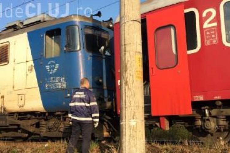 Accident mortal la Dej. Un bărbat a fost SPULBERAT de tren FOTO