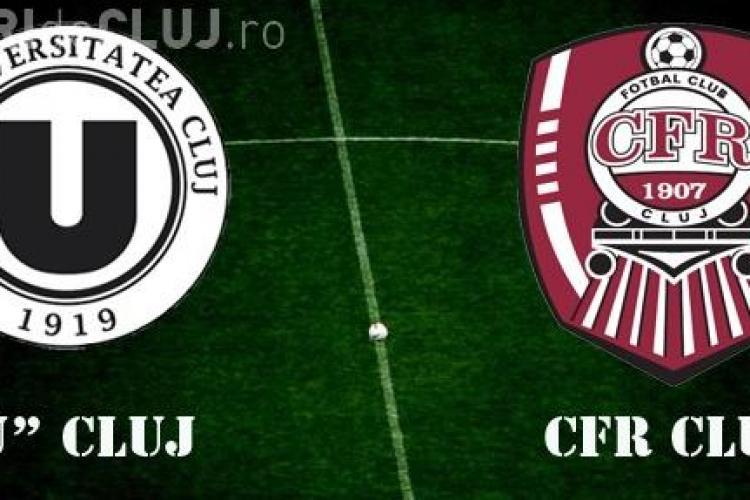 """Meciul dintre """"U"""" Cluj și CFR s-a lăsat cu sanțiuni. Secundul lui """"U"""" și un jucător al CFR-ului au fost suspendați"""