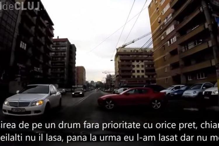 """Clujeni cu mașini """"tari"""" forțează intersecțiile cu tupeu - VIDEO"""