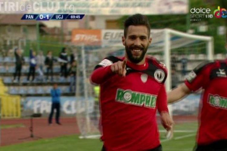 "Victorie pentru ""U"" Cluj, acasă la Pandurii! Viveiros a dat golul salvator REZUMAT VIDEO"