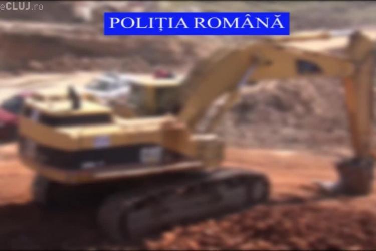 La Autostrada Transilvania se lucrează cu utilaje FURATE din Spania - VIDEO