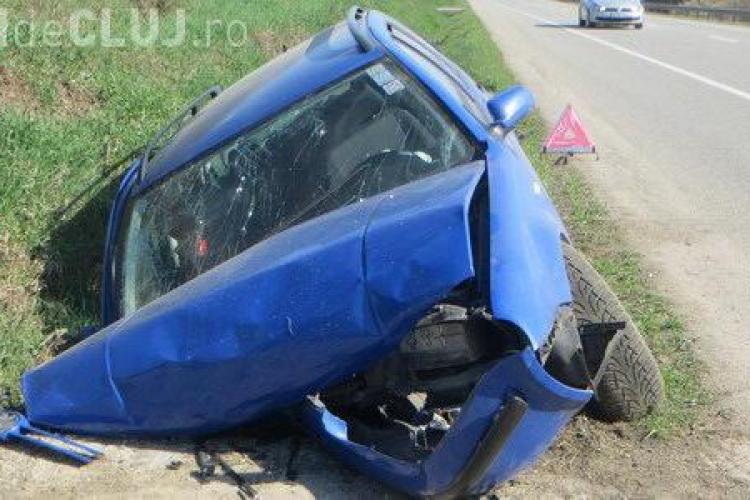Accident violent la Jucu! Patru persoane au fost rănite, printre care și un copil VIDEO
