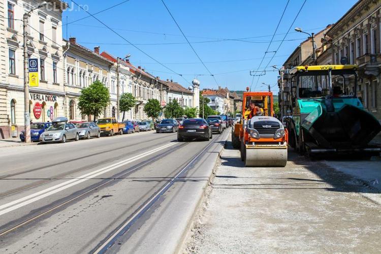 Care este stadiul lucrărilor de pe strada Horea. Vezi când se va circula din nou pe 2 benzi FOTO