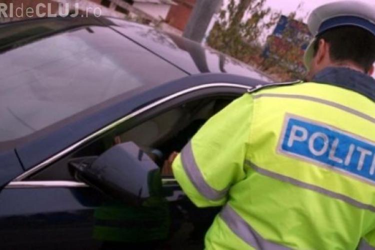 Trei șoferi prinși la volan fără drept de conducere, într-o singură zi, la Cluj