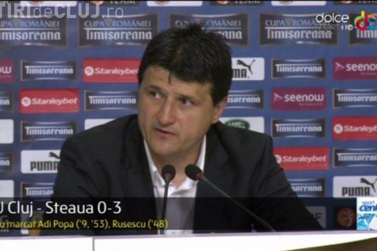 Adi Falub, după ce a pierdut finala Cupei României: Sper ca acest club să nu dispară