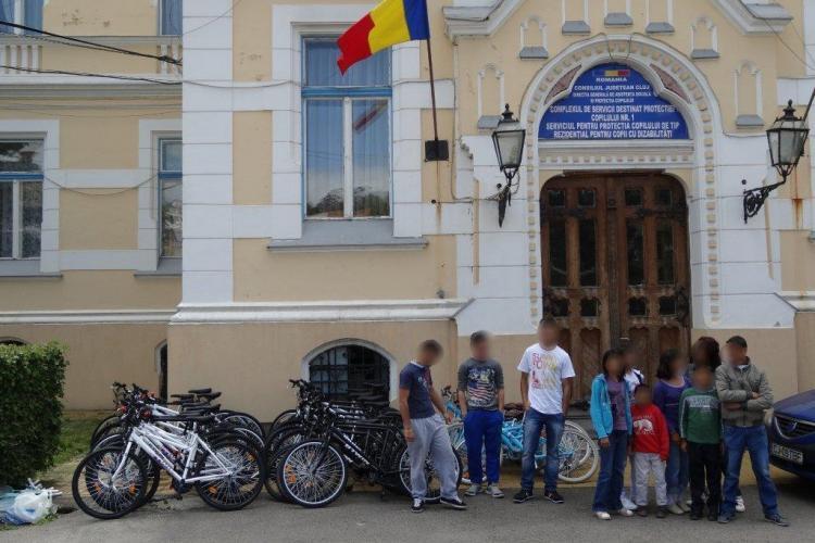 Biciclete noi, donate pentru copiii din cadrul Direcției de Asistență Socială Cluj FOTO