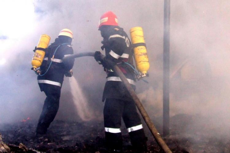 Ferma de animale care a ars la Gilău a lăsat un prejudiciu URIAȘ