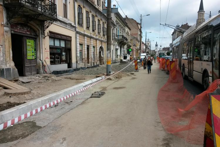Continuă lucrările de modernizare pe strada Memorandumului. Ce VEȘTI bune sunt