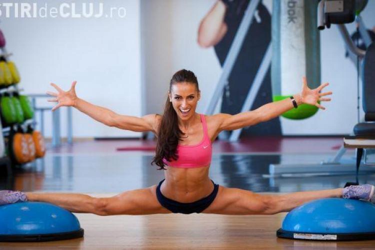 Clujeanca devenită Miss Fitness Universe și-a transformat iubitul într-un model fitness, scăpându-l de burtă - FOTO