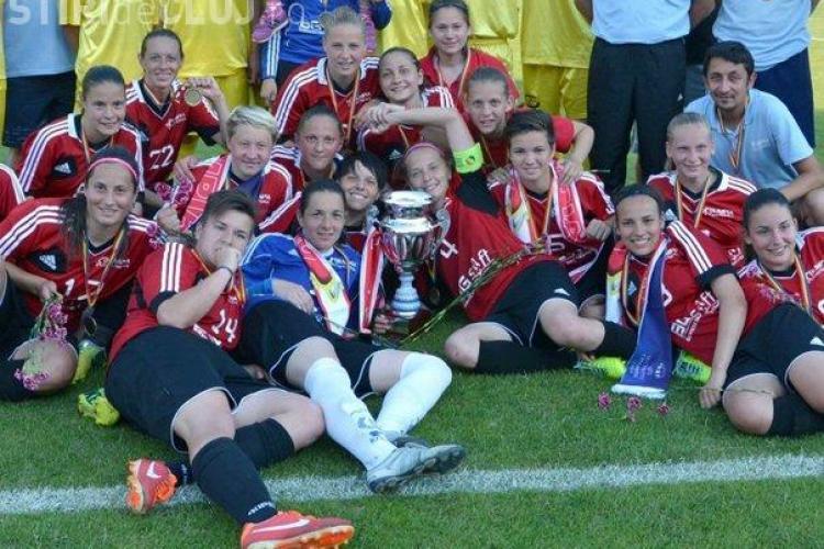 Fetele de la Olimpia Cluj au câștigat Cupa României. E a cincilea trofeu CONSECUTIV FOTO