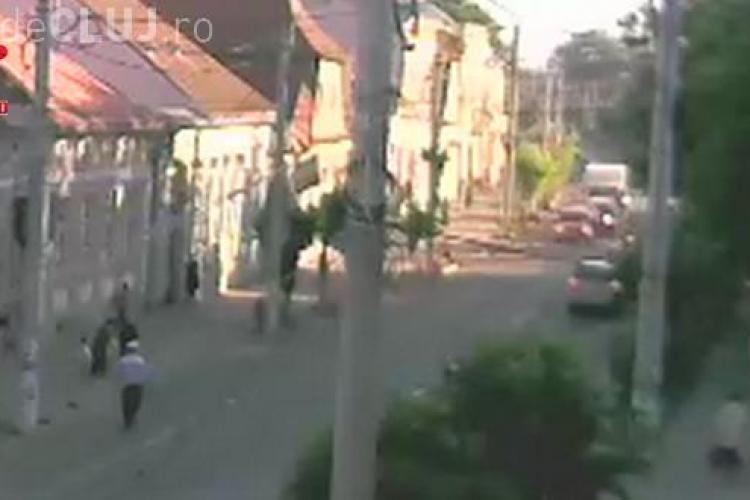 Accident în lanț la Gherla, la prima oră a dimineții! Unul dintre șoferi era băut VIDEO