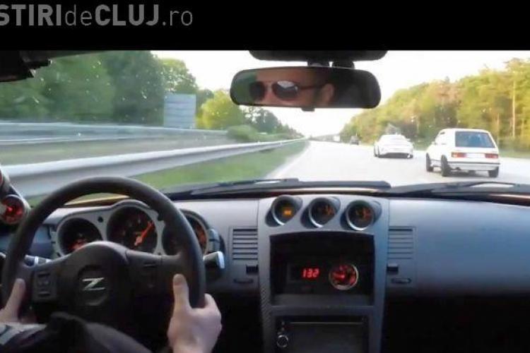 Nissan 350Z și  Porsche 911, UMILITE de un Golf 1 pe autostradă VIDEO