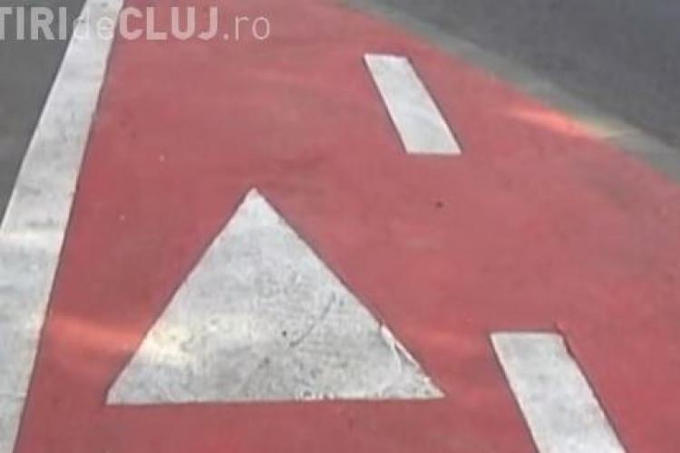 Situație ABERANTĂ la Cluj! Cei care trasează pistele de biciclete par din alt FILM - VIDEO