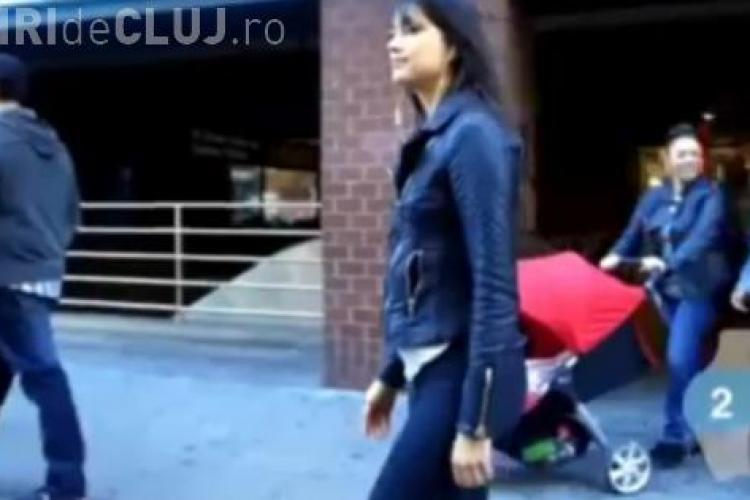 O tânără SEXY și-a pus o CAMERA pe pantalonii mulati pe fund. IMAGINI amuzante - VIDEO
