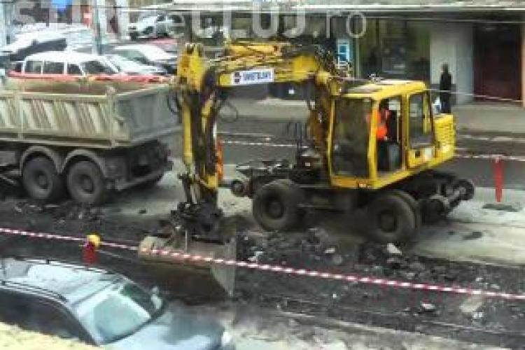 Boc anunță că strada Horea va fi refăcută din temelii. Vezi când se termină lucrările